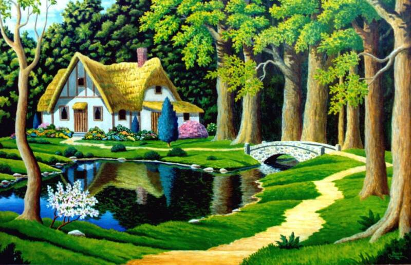 Fantasy Cottage by artist David Carrigan