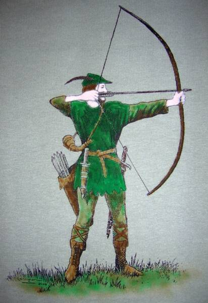 Robin Hood 2006, in color, T-shirt design © David Carrigan