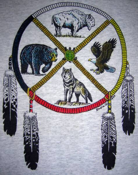 Medicine wheel, on ash T, T-shirt design © David Carrigan